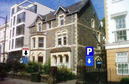 city marshall massage at quaker meeting house cardiff photo of building entrance with free city centre parking near MArks and Spencer