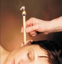 Image of a woman Hopi Candle treatment in Cardiff for all ages is suitable for any respiratory and allergy condition