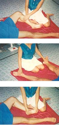 Cardiff Thai Yoga Massage routine, as demonstrated by the Thai Massage Master at the Cardiff clinic